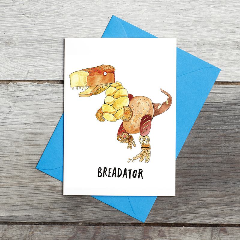 Breadator_For-dino-and-baking-lovers_Greetings-Card_SM12_FLC