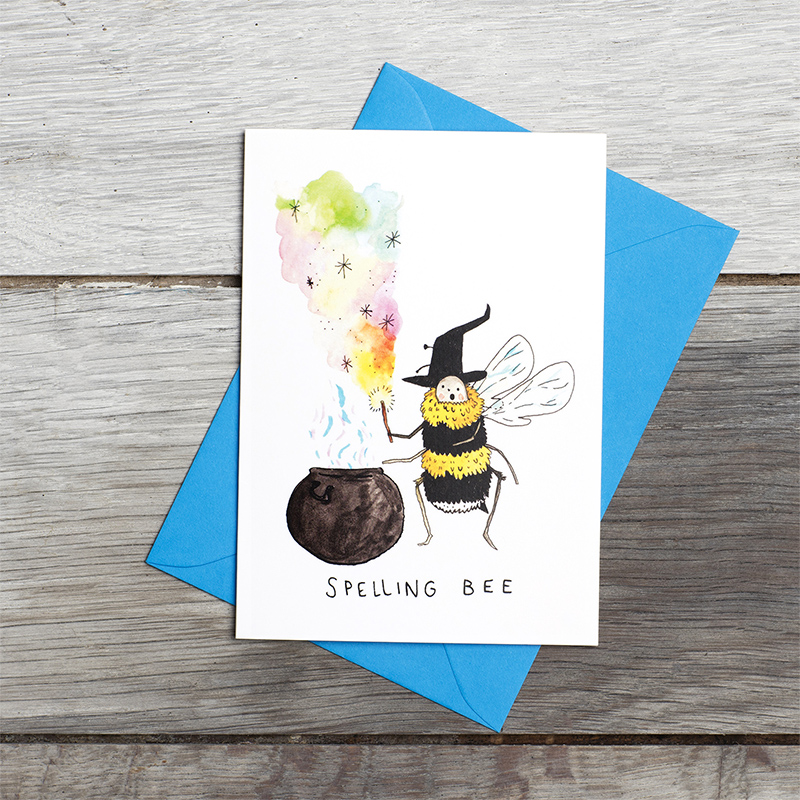 Spelling-Bee_-Magic-pun-greetings-card-for-teachers.-SM05.FLC_
