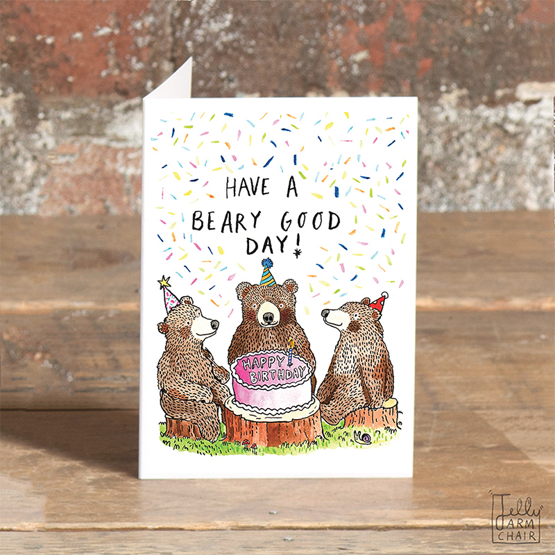 Beary-Good-Day_Bear-pun-birthday-card-for-nature-lovers-and-birthday-cake-bakers_SO21_OT