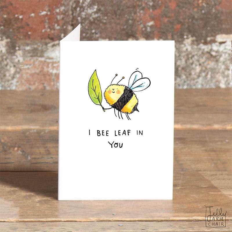 Bee-Leaf_-Motivational-bee-themed-pun-greetings-card-for-letter-sending_SO46_OT