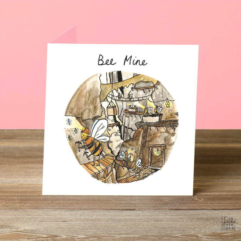 Bee-Mine_-Valentines-Day-or-Anniversary-greetings-card-with-bee-puns-for-nature-lovers_VD01_OT