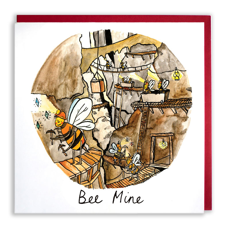 Bee-Mine_-Valentines-Day-or-Anniversary-greetings-card-with-bee-puns-for-nature-lovers_VD01_WB