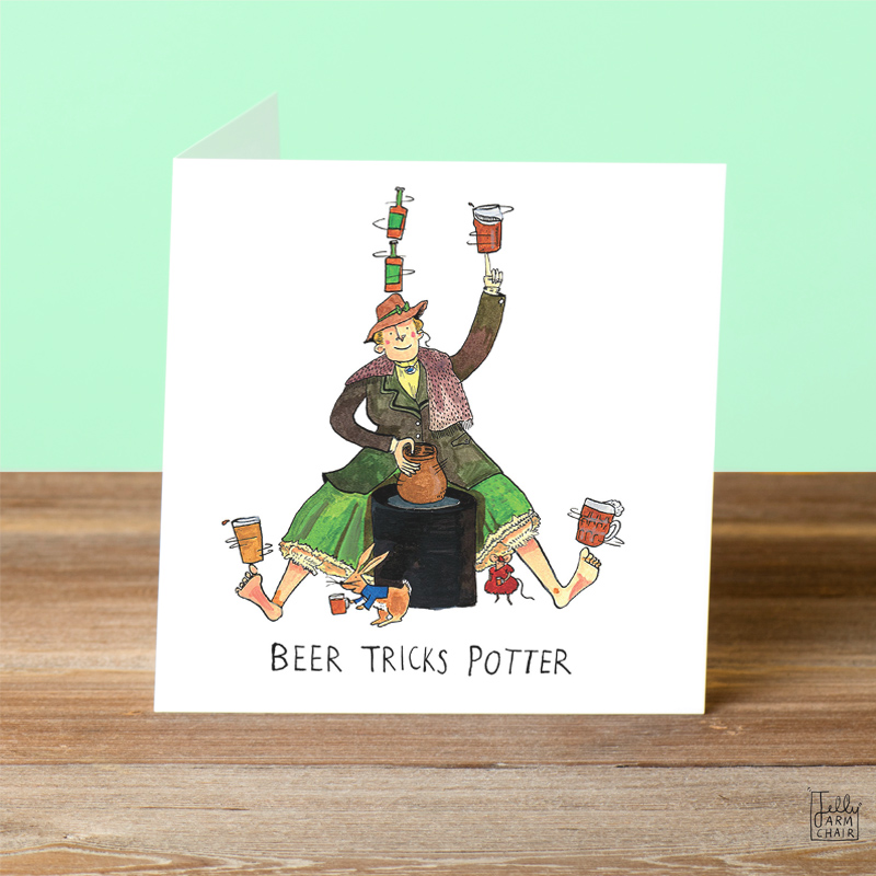 Beer-Tricks-Potter_-Beer-and-books-pun-greetings-card-for-classic-book-lovers_SL06_OT