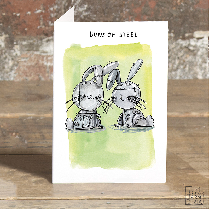 Buns-of-Steel_-Greeting-cards-for-gym-bunnies-and-gym-goers.-Rabbit-pun-greetings-card_POP09_OT