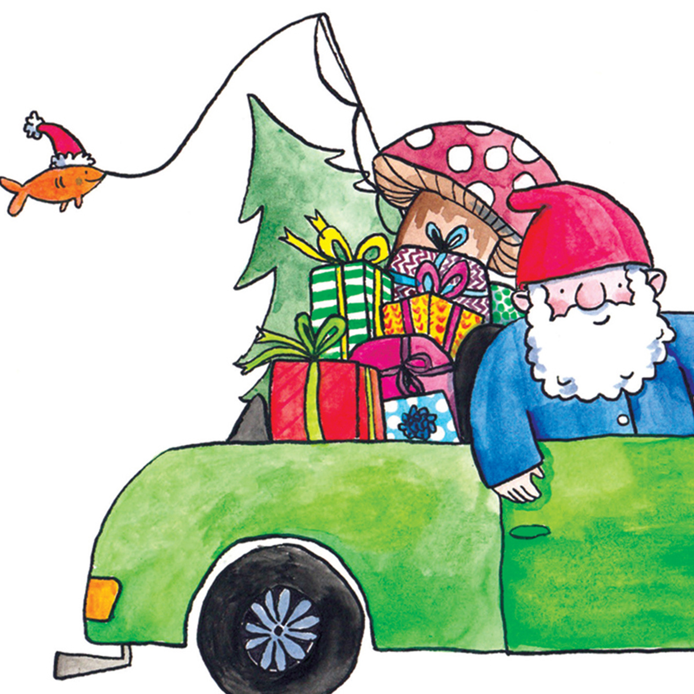 Driving-Gnome_-Driving-home-for-Christmas-pun-Christmas-card_CH14_CU