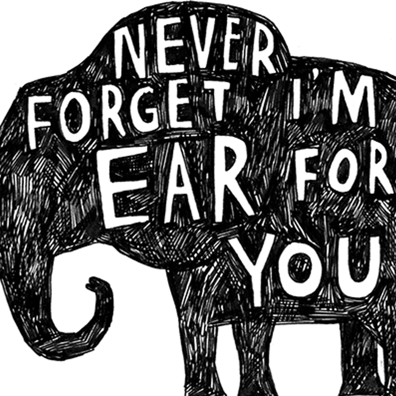 Ear-For-You-ELE_-Elephant-pun-greetings-card-for-condolences-or-letter-writing-to-friends_-BW20_CU
