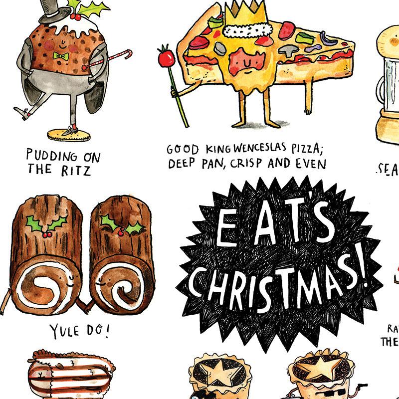 Eats-Christmas_Christmas-card-with-Christmas-feast-and-Christmas-food-puns_CMP06_CU