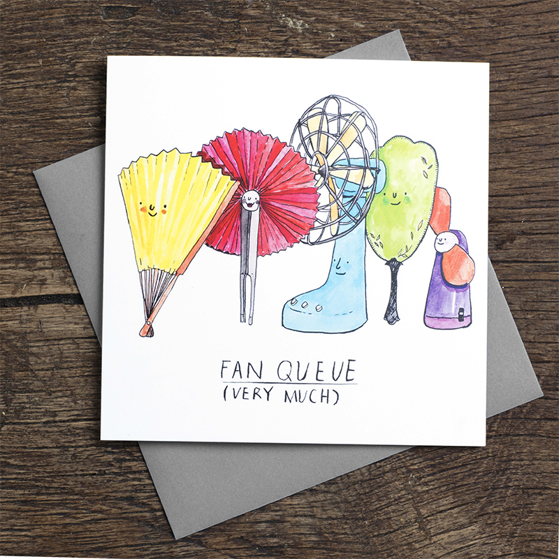 Fan-Queue_Thank-you-greetings-card-with-funny-pun-ideal-for-thank-you-notes_FW06_FLC