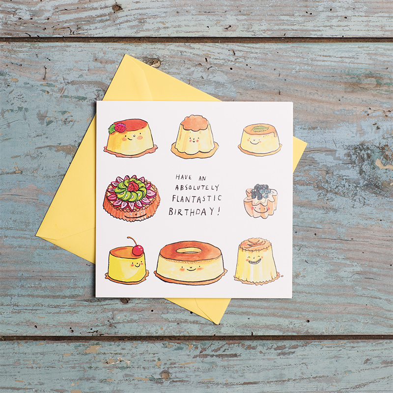 Flan-Tastic-Birthday_-Dessert-pun-Birthday-card.-Birthday-card-for-bakers-and-those-with-a-sweet-tooth_BD06_FLC