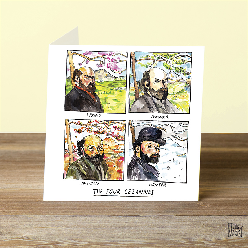 Four-Cezannes_-Cezanne-greetings-card-for-nature-loves-and-art-lovers_-SA06_OT-