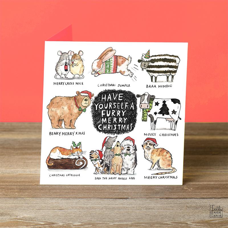 Furry-Merry-Christmas-_Christmas-card-with-animal-puns.-Christmas-card-for-animal-lovers_CMP08_OT