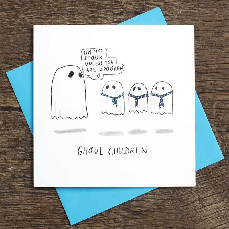 Ghoul-children.-Halloween-greetings-card-with-ghost-pun.-Greeting-cards-for-teachers_HW01_FLC