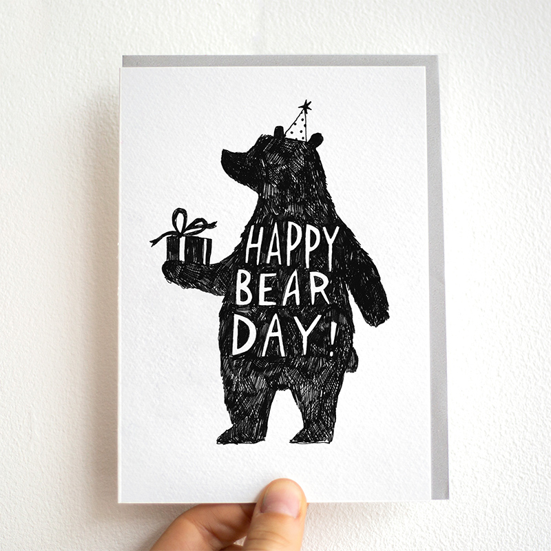 Happy-Bear-Day_-Bear-themed-birthday-card-with-bear-out-for-nature-lovers-and-teddy-bear-owners_BW07_THB