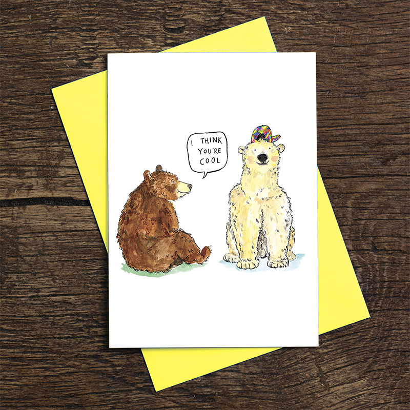 I-Think-Youre-Cool_-Polar-bear-and-grizzly-bear-greetings-card-with-cool-fun-pun_IT12_FLC