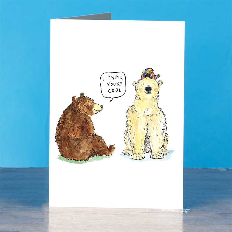 I-Think-Youre-Cool_-Polar-bear-and-grizzly-bear-greetings-card-with-cool-fun-pun_IT12_OT