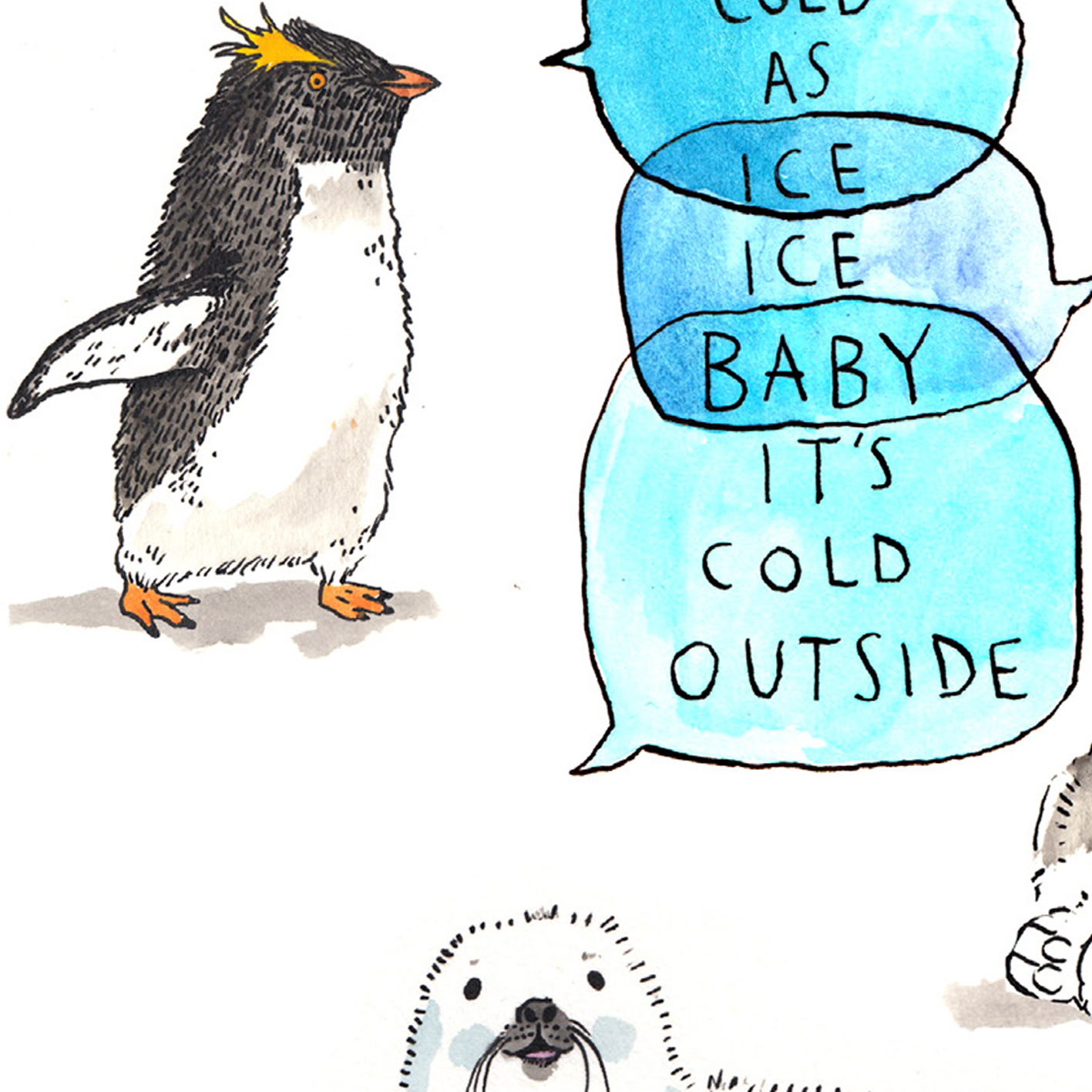 Ice-Ice-Baby_-polar-wildlife-Christmas-card.-Christmas-songs-Christmas-card_CH08_CU
