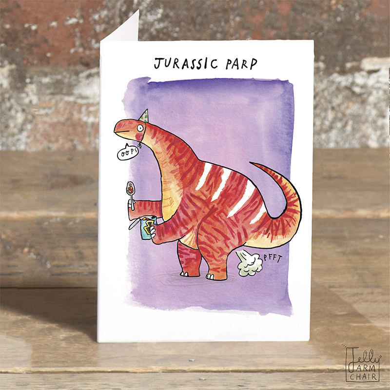 Jurassic-Parp__Jurassic-Park-pun-greetings-card-with-dinosaur-oun.-Dinosaur-pun-greetings-card_POP17_OT