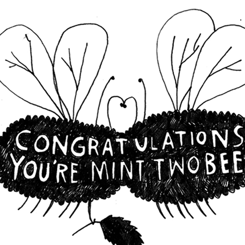 Mint-Two-Bee_.Engagement-greetings-card-with-bee-pun-for-the-happy-couple_BW25_CU