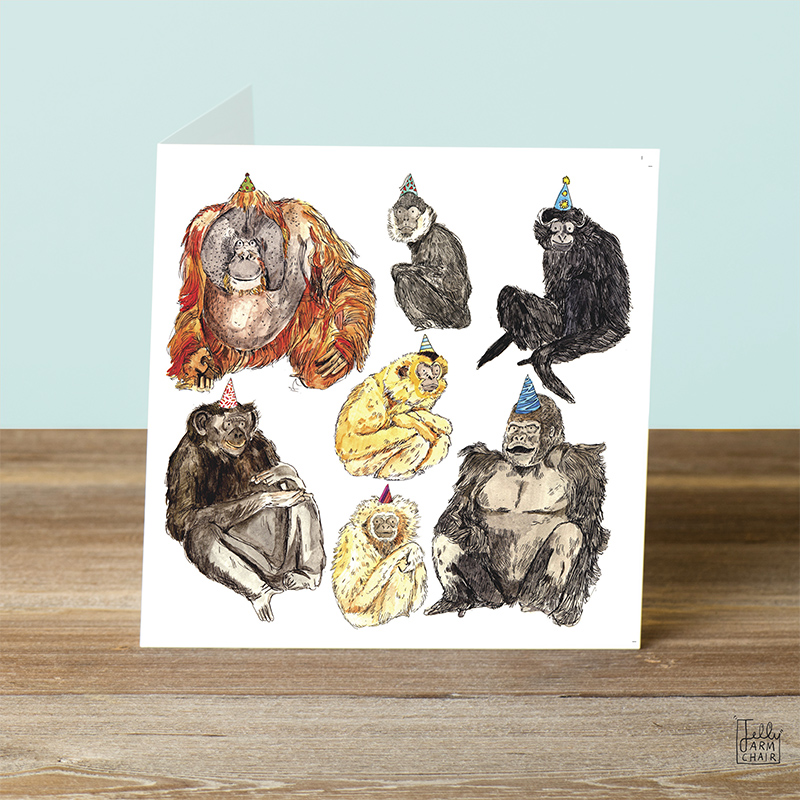 Monkeys_Illustrated-monkeys-greetings-card-for-nature-lovers_AP04_OT