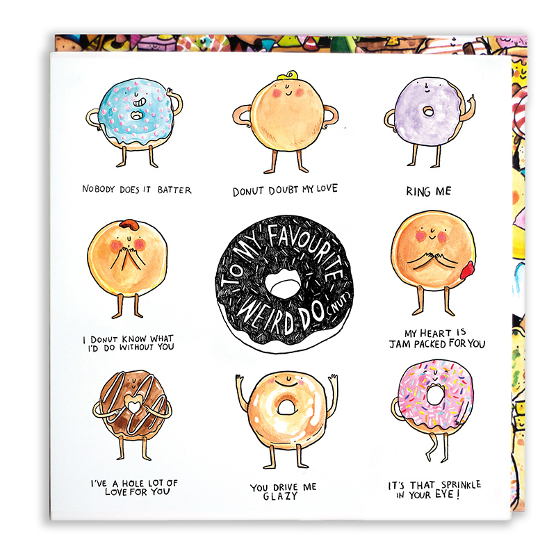 My-Favourite-Weirdonut_Greetings-card-with-doughnut-puns.-Cake-themed-valentines-day-anniversary-card_Mp22_WB