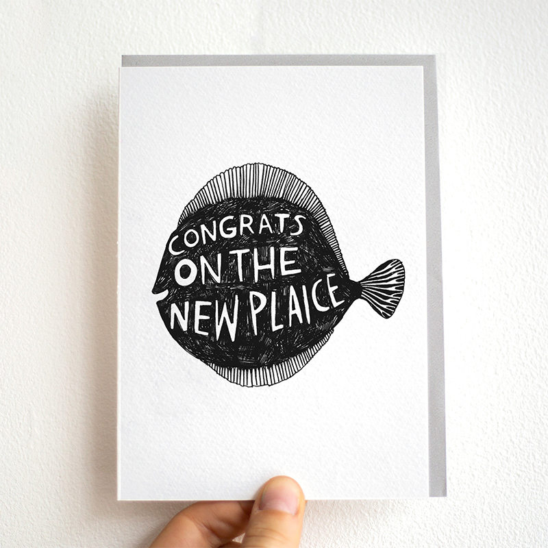 New-Plaice_-Congratulations-on-the-new-home-greetings-card-with-fish-pun_BW29_THB-