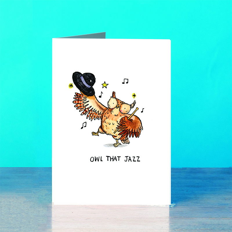 Owl-That-Jazz_-Showbiz-and-stage-funny-pun-greetings-card_SM46_OT