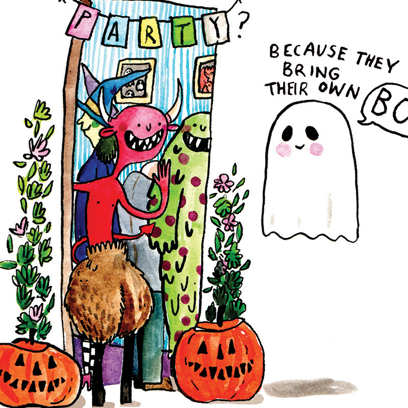 Own-Boos_-HalloweenParty-invite-greetings-card-with-funny-ghost-and-monster-puns_HW05_CU