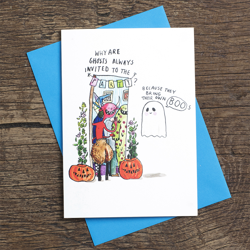 Own-Boos_-HalloweenParty-invite-greetings-card-with-funny-ghost-and-monster-puns_HW05_FLC