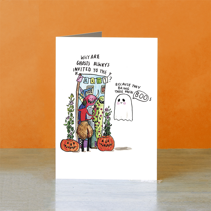 Own-Boos_-HalloweenParty-invite-greetings-card-with-funny-ghost-and-monster-puns_HW05_OT