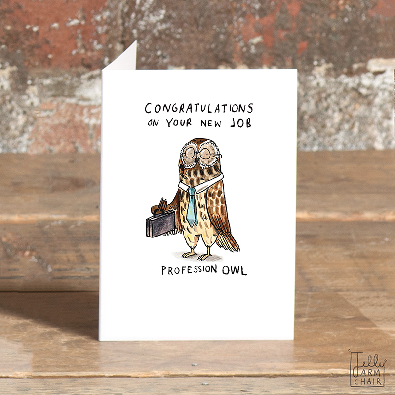 Profession-Owl_-Congratulations-on-your-new-job-Owl-themed-greetings-card_SO47_OT