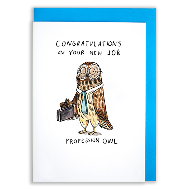 Profession-Owl_-Congratulations-on-your-new-job-Owl-themed-greetings-card_SO47_WB