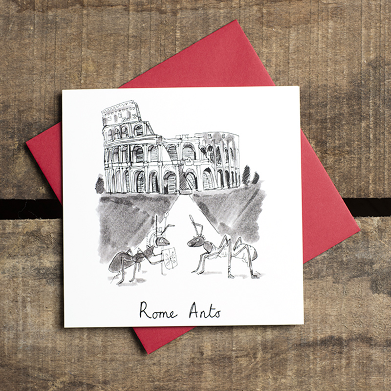 Rome-Ants_Funny-romantic-Valentines-day-or-anniversary-greetings-card-with-ant-and-Italy-based-pun_VD05_FLC