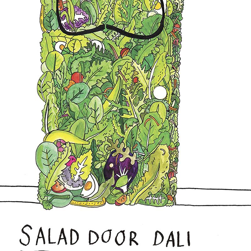 Salad-Door_Salvador-Dali-joke-greetings-card-for-art-lovers-and-art-collector_SA05_CU