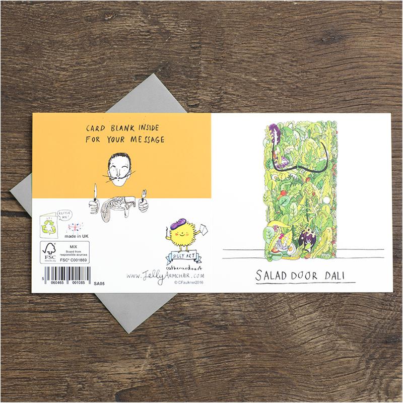Salad-Door_Salvador-Dali-joke-greetings-card-for-art-lovers-and-art-collector_SA05_FLO