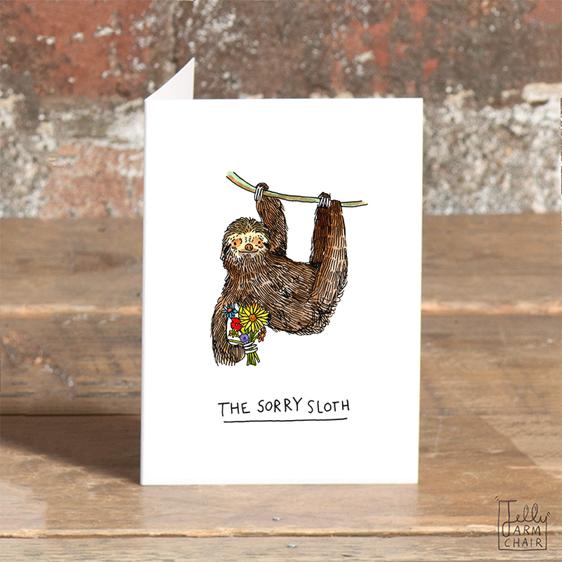 Sorry-Sloth_-Apology-greetings-card-for-nature-lovers_SO06_OT