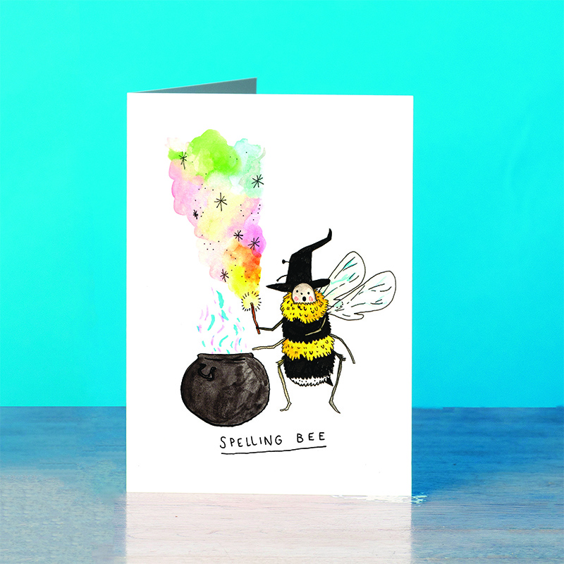 Spelling-Bee_-Magic-pun-greetings-card-for-teachers.-SM05.OT_