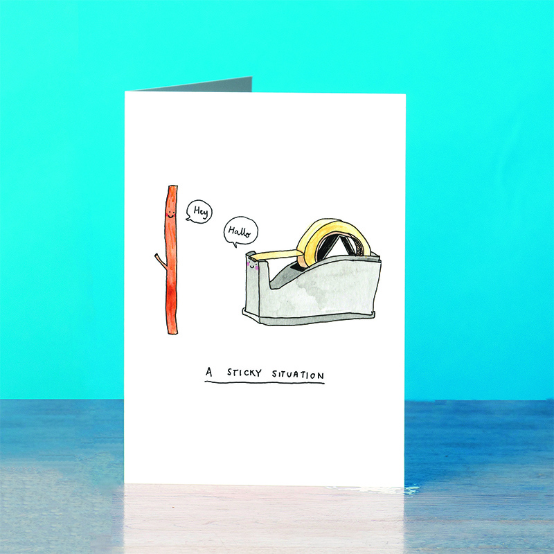 Sticky-Situation_-Stationary-Dad-Joke-greetings-cad_SM35_OT