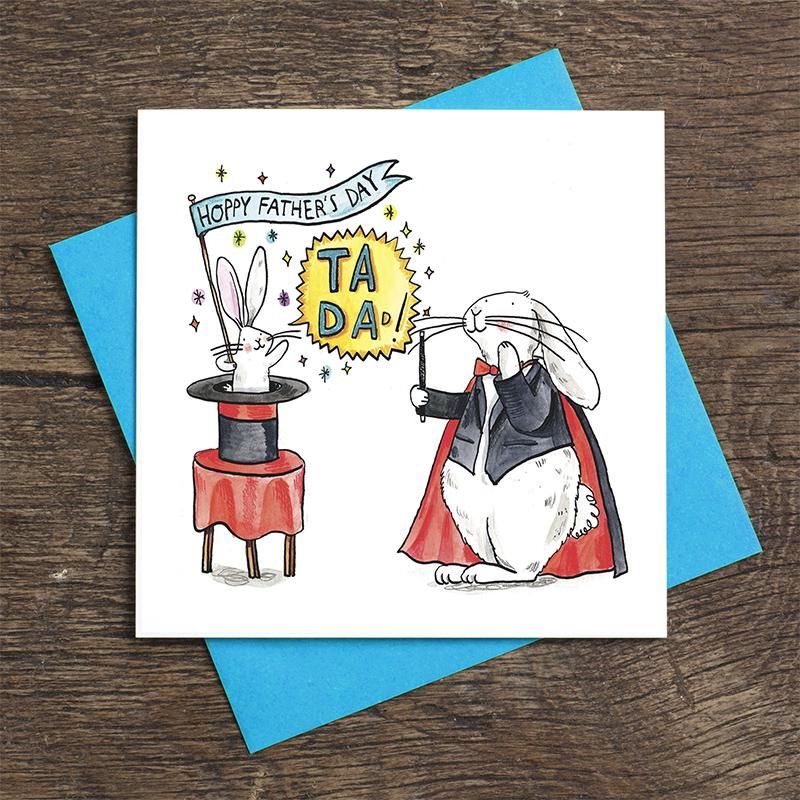 Ta-Da-Magic_-Fathers-Day-card-with-magic-theme-and-rabbit-base-down_FD15_FLC