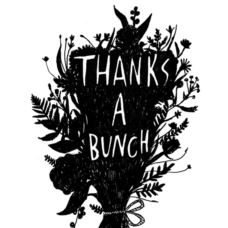 Thanks-a-Bunch_-Thank-you-greetings-card-with-floral-design-for-gardeners-and-flower-fanatics_BW18_CU