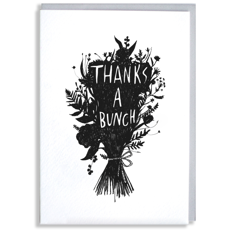 Thanks-a-Bunch_-Thank-you-greetings-card-with-floral-design-for-gardeners-and-flower-fanatics_BW18_WB