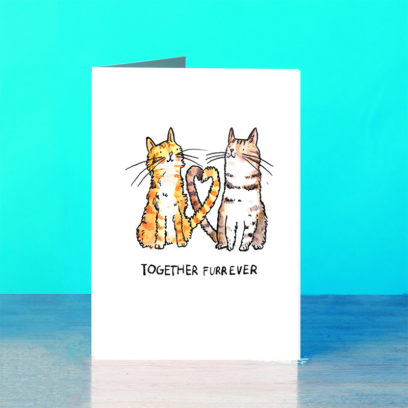 Together-Furrever_Romantic-greetings-card-ideal-for-cat-and-kitten-lovers_SM54_OT