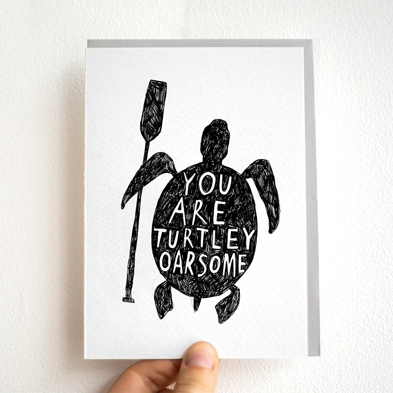 Turtley-Awesome_-Motivational-greetings-card-or-thank-you-notes-for-ocean-life-conservationists-and-turtle-lovers_BW08_THB