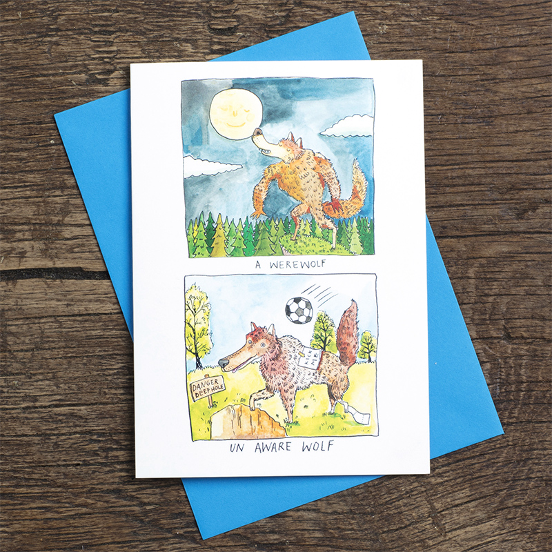 Un-Aware-Wolf_-Funny-werewolf-halloween-greetings-card_HW03_FLC