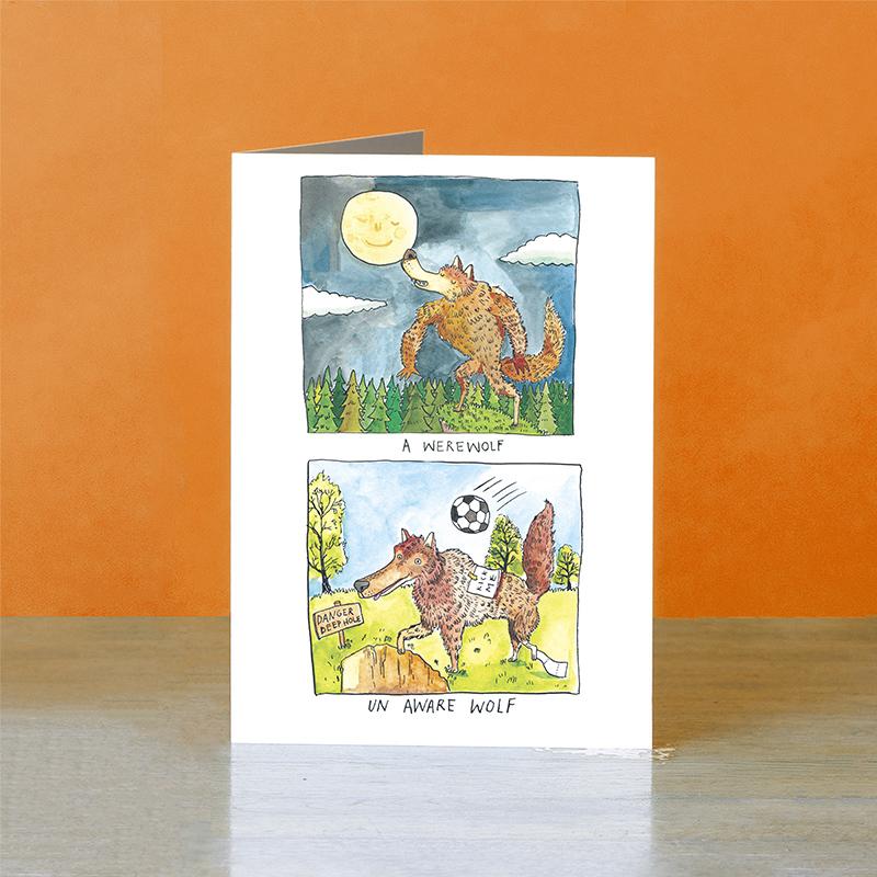 Un-Aware-Wolf_-Funny-werewolf-halloween-greetings-card_HW03_OT