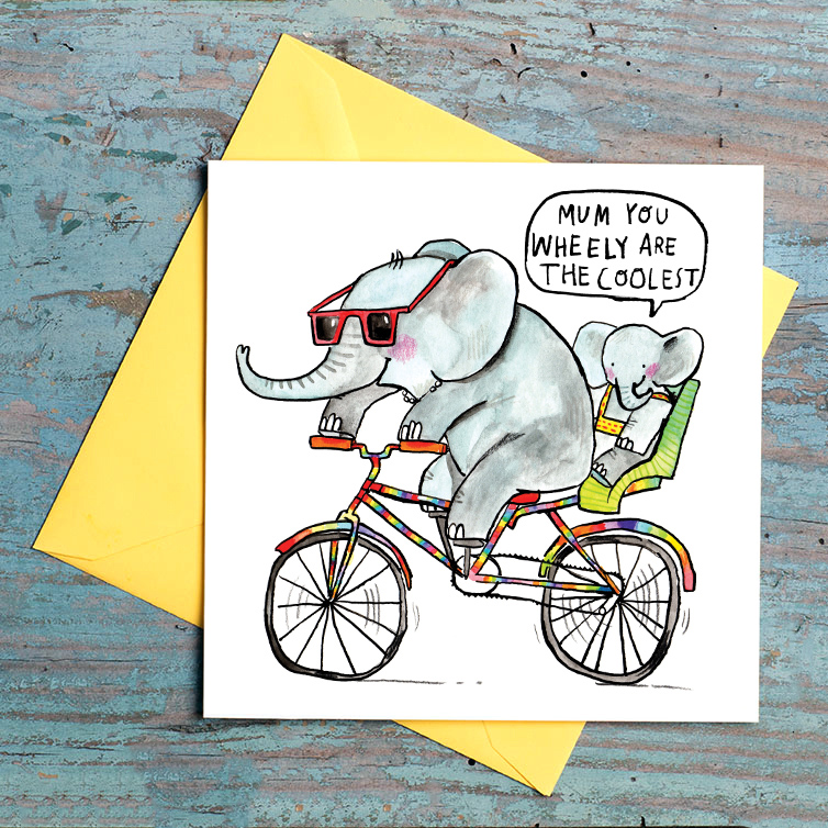 Wheely-Are-The-Coolest_-Motherd-Day-Card-with-cycling-pun.-Elephant-Mothers-Day-card_MD14_FLC