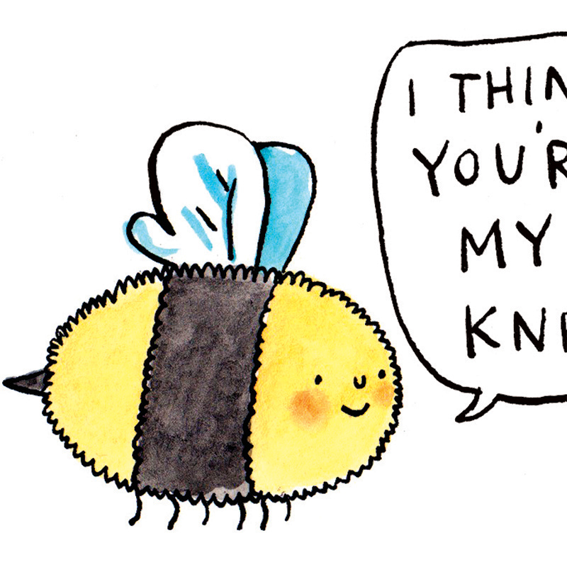 Youre-My-Knees_-Bee-greetings-card-for-nature-lovers-with-bees-knees-pun_IT05_CU-1