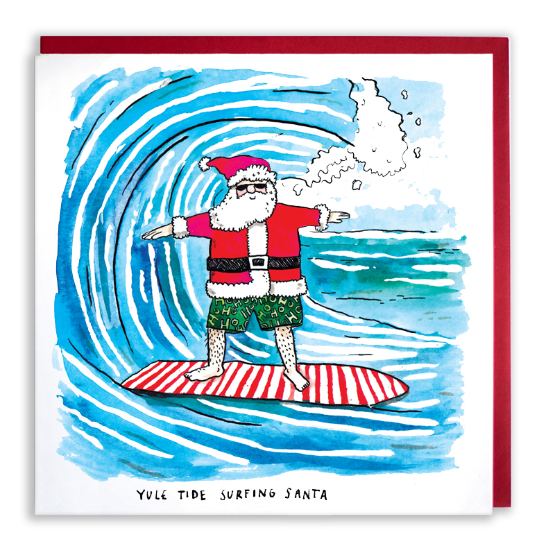 Yule-Tide-Surfing_Surfing-Santa-Christmas-card.-Beach-themed-Christmas-card_CH19_WB