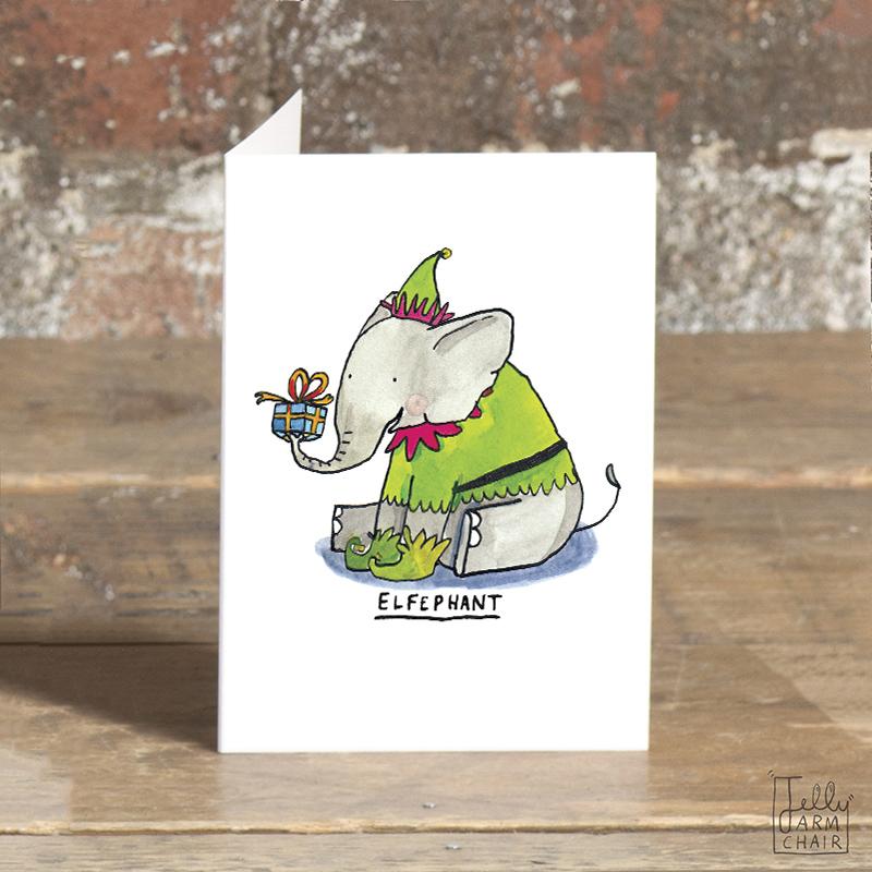 Elfephant_-Elephant-Christmas-card-with-elf-pun_CA14_OT