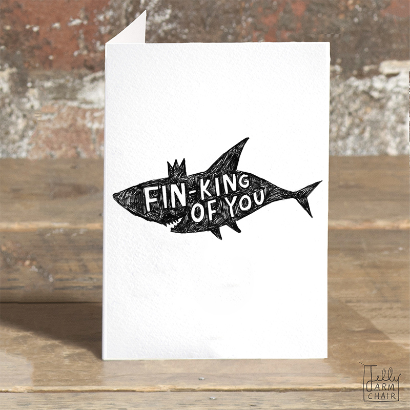 Fin-King_-Shark-greetings-card-for-condolences-or-letter-writing-to-friends_BW21_OT