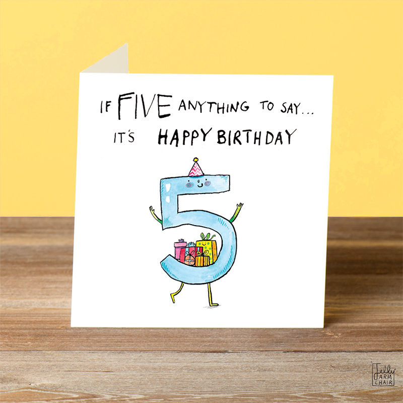 Five-Anything-To-Say_-Cartoon-fifth-birthday-card_-Fun-five-year-old-kids-birthday-card_-AN05_OT